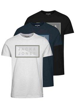 Jack & Jones - 3 PACK - T-shirt print - navy blazer