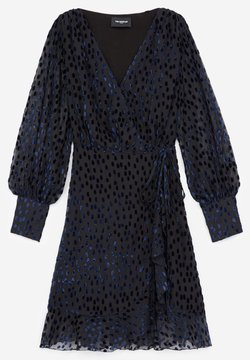 The Kooples - WITH POLKA DOTS - Robe d'été - black / purple