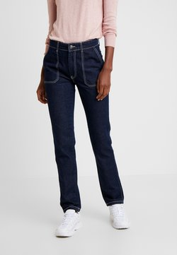 PIECES Tall - PCAURINA - Straight leg jeans - dark blue denim