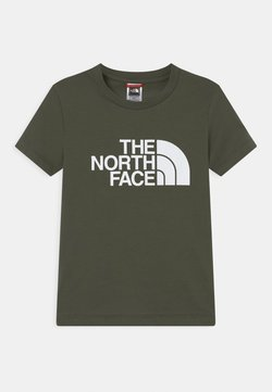 The North Face - YOUTH EASY UNISEX - T-shirt med print - green/white