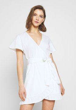 Nly by Nelly - WRAPPED FRILL DRESS - Robe d'été - white