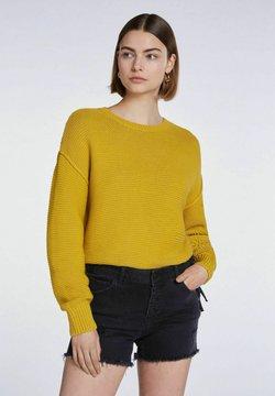 SET - MIT GROBSTRICK - Strickpullover - yellow sun