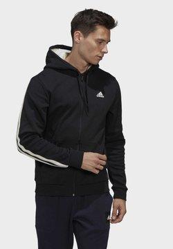 adidas Performance - WINTER 3-STRIPES FULL-ZIP HOODIE - veste en sweat zippée - black