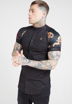 SIKSILK - Camisa - jet blackfloral animal