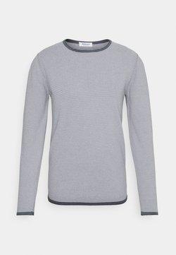 Wool & Co - FINE LINE - Strickpullover - dark blue