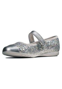 Clarks - DANCE TAP TODDLER - Ballerina's met enkelbandjes - silber / synthetik
