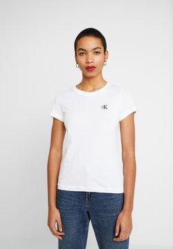 Calvin Klein Jeans - EMBROIDERY SLIM TEE - T-shirt basic - bright white
