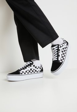 Vans - OLD SKOOL PLATFORM - Sneaker low - black/white