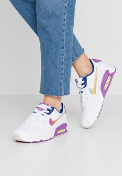 Nike Sportswear - AIR MAX 90 - Sneakers laag - white/multicolor/purple/barely volt/hyper blue/hydrogen blue