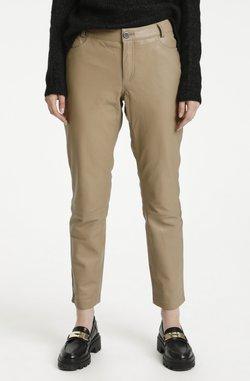 My Essential Wardrobe - Pantalon en cuir - dune