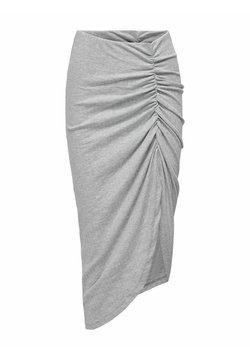 JDY - ASYMMETRISCH - Spódnica ołówkowa  - light grey melange