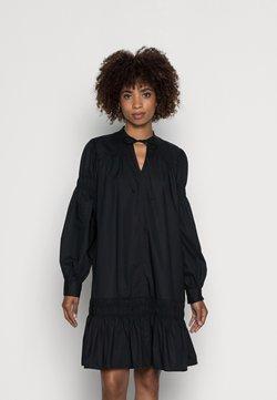 Marc O'Polo DENIM - DRESS SMOCK DETAILS AT SLEEVE AND SKIRT LONGSLEEVE - Korte jurk - black