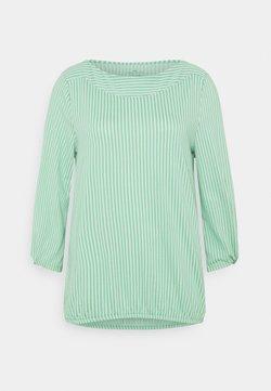 TOM TAILOR - VERTICAL STRIPE - Bluse - green/white