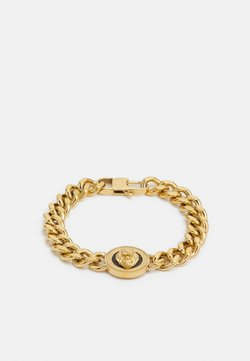 Guess - LION COIN CHAIN BRACELET UNISEX - Armband - gold-coloured/black