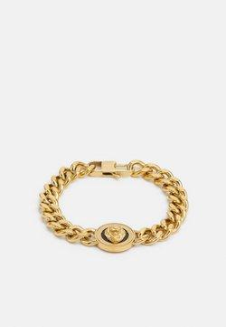 Guess - LION COIN CHAIN BRACELET UNISEX - Bracelet - gold-coloured/black