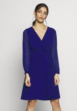 Lauren Ralph Lauren Petite - COOPER LONG SLEEVE DAY DRESS - Jerseyklänning - cannes blue