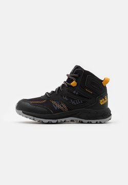 Jack Wolfskin - WOODLAND TEXAPORE MID UNISEX - Hikingschuh - black/burly yellow