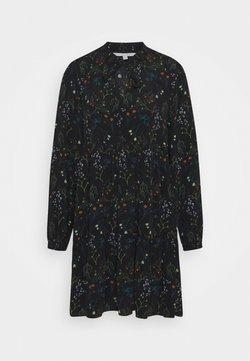 TOM TAILOR DENIM - PRINTED DRESS WITH BOW DETAIL - Freizeitkleid - black