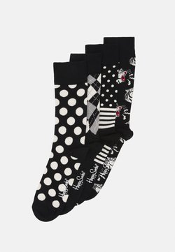 Happy Socks - SOCKS GIFT SET 4 PACK - Socken - black/white
