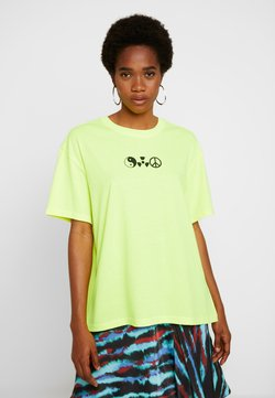 Weekday - EASY - T-shirt z nadrukiem - yellow
