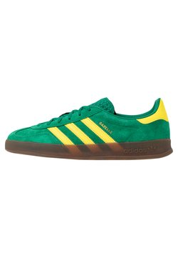 adidas Originals - GAZELLE INDOOR - Baskets basses - green/yellow