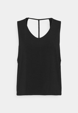 Onzie - CUT OUT TANK - Top - black