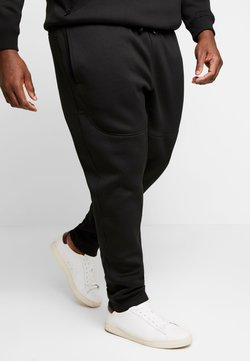 Urban Classics - CUT AND SEW PLUS SIZE - Jogginghose - black