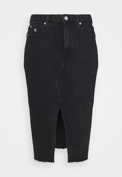Calvin Klein Jeans - HIGH RISE MIDI  - Kynähame - denim black