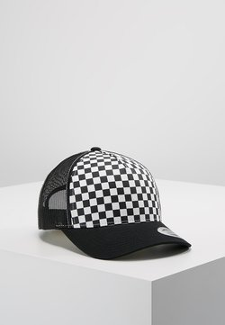 Flexfit - CHECKERBOARD RETRO TRUCKER - Cap - black/white
