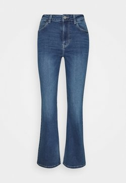 JDY - JDYNEWFLORA NEELA LIFE HGH FLARE  - Straight leg jeans - medium blue denim