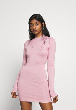 Missguided Petite - PUFF SLEEVE MINI DRESS - Fodralklänning - rose