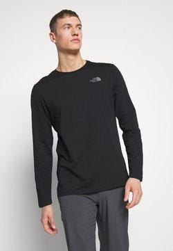 The North Face - MENS EASY TEE - Långärmad tröja - black/zinc grey