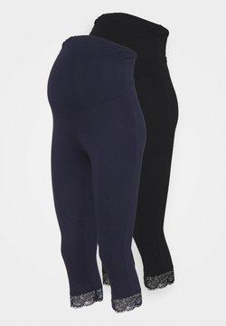 Anna Field MAMA - 2 PACK - Leggings - black/dark blue