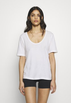 Selected Femme Petite - SLFASTRID TEE  PETITE - Camiseta básica - bright white