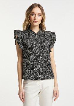 DreiMaster - Bluse - schwarz gepunktet