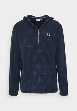 Fila - HASTIN HALF ZIP - Sweat à capuche - black iris