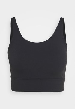 Nike Performance - YOGA LUXE CROP TANK - Tekninen urheilupaita - black/dark smoke grey