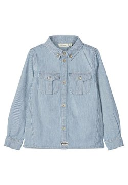 Name it - NAME IT HEMD GESTREIFTES BAUMWOLL - Camisa - light blue denim