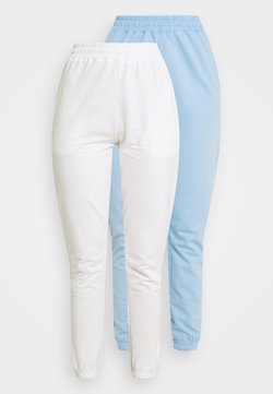 Missguided - BASIC JOGGERS 2 PACK - Jogginghose - blue bell/snow white