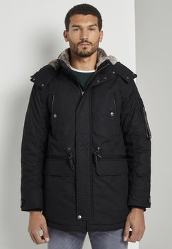 TOM TAILOR - MIT KORDELZUG - Parka - black