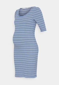 MAMALICIOUS - SHORT DRESS - Jerseykleid - victoria blue