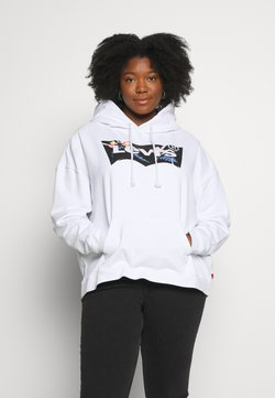 Levi's® Plus - GRAPHIC SPORT HOODIE - Huppari - white