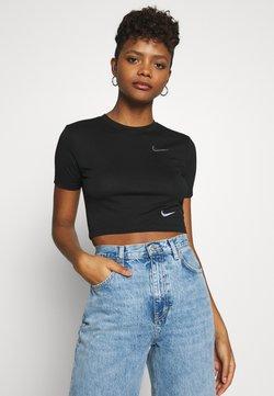 Nike Sportswear - W NSW TEE SLIM CROP LBR - T-shirt print - black