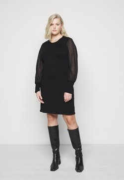 Vero Moda Curve - VMBELLISSIMO BACK DRESS - Strickkleid - black