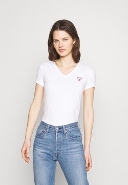 Guess - MINI TRIANGLE - Camiseta estampada - true white