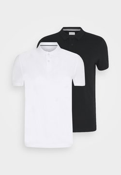 Pier One - 2 PACK - Polo - white/black