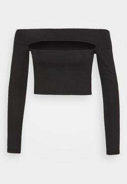 Topshop - SLASH PONTE BARDOT - Langarmshirt - black