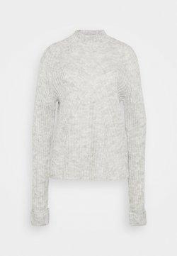 Vero Moda Tall - VMCARINA HIGHNECK - Trui - light grey melange