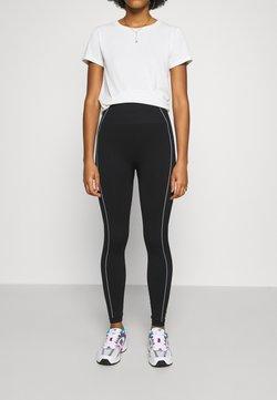NU-IN - CONTRAST DETAIL SEAMLESS - Legging - black/white