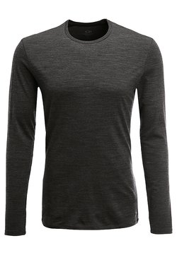 Icebreaker - MENS ANATOMICA CREWE - Unterhemd/-shirt - jet heather/black